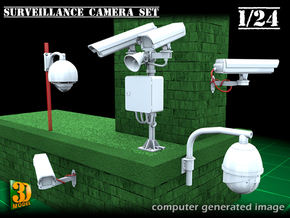 Surveillance cameras (1/24) in Smooth Fine Detail Plastic
