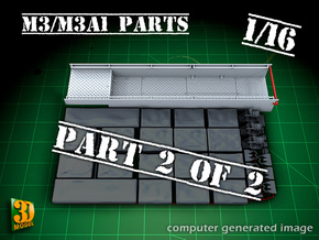 M3/M3A1 halftrack parts (1/16) (2of2) in Frosted Ultra Detail
