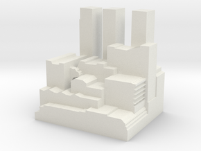 "Q-04: ""Queens Ziggurat"" by Studio Antonas in White Natural Versatile Plastic"