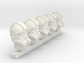 tie fighter pilot helmet in White Natural Versatile Plastic