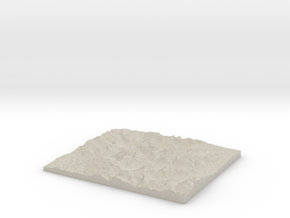 Model of Big Drift in Natural Sandstone