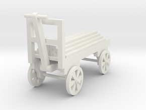 Cart - Wood Load - HO Scale 87:1 in White Natural Versatile Plastic