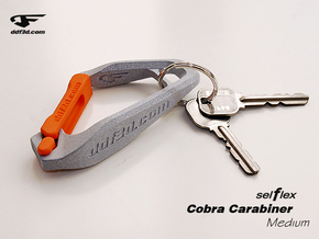 Cobra Carabiner *Medium* DH003SW in Polished Metallic Plastic