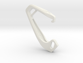 Cobra Carabiner *Medium* DH003SW in White Natural Versatile Plastic