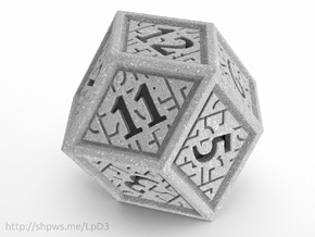 Hedron D12 (Solid), balanced gaming die in Polished Metallic Plastic