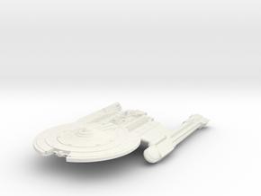 Mckee Class VII  BattleCruiser in White Natural Versatile Plastic