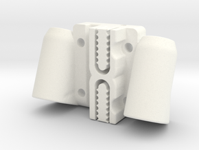 Kossel Mini Magnetic Ball Joint Linear Carriage in White Processed Versatile Plastic