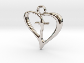 Cross My Heart Pendant in Platinum