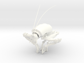 Articulated Cave Weta in White Processed Versatile Plastic