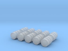 1/72nd Scale Oildrums (10 pieces) in Smooth Fine Detail Plastic
