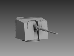 "5 x 4.7"" Gun and MKXVIII mount 1/200 in Smooth Fine Detail Plastic"