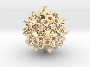 Cell Pendant in 14K Yellow Gold