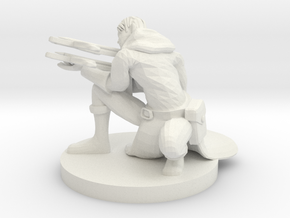 Double Crossbow Ranger Aiming in White Natural Versatile Plastic