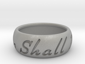 This Too Shall Pass ring size 11 1/2 in Aluminum