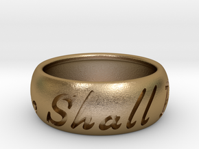 This Too Shall Pass ring size 11 1/2 in Polished Gold Steel