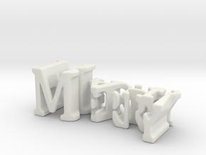 3dWordFlip: Merry/Bah! in White Natural Versatile Plastic