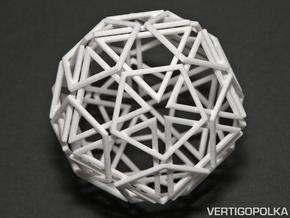 Exploded Polyhedra in White Natural Versatile Plastic