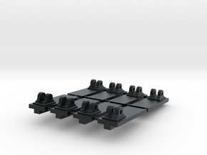 Set of 8 Pivots for 1:24 scale model of a Royal Na in Black Hi-Def Acrylate