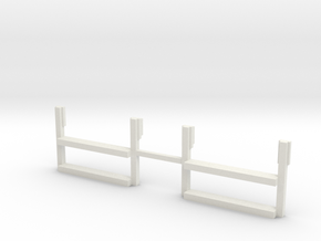 On30 2-4-4-2/2-6-6-2 Side Tank Cab Steps in White Natural Versatile Plastic
