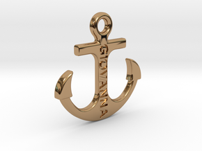 ANCORA (cm 2 x 2) (customizable) in Polished Brass