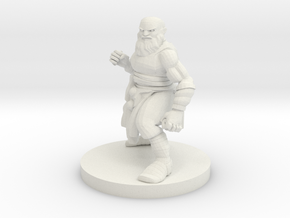 Dwarf Monk 2 in White Natural Versatile Plastic