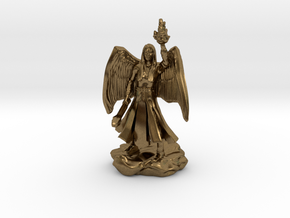 Female Aasimar Cleric With Mace in Natural Bronze