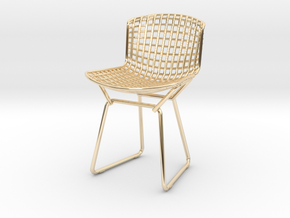 Knoll Bertoia Side Chair Frame 1:12  Scale in 14K Yellow Gold