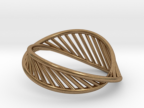 DNA Ring US7 in Natural Brass: 7 / 54
