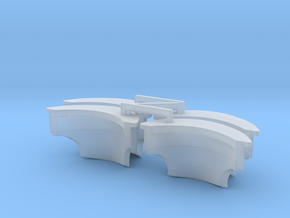 Castle-Type Pauldron Version 2 x4 in Smooth Fine Detail Plastic