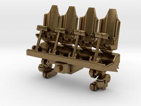 Wagon Seats small in Natural Bronze (Interlocking Parts)