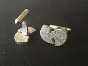 Wu Cufflink Set in Polished Nickel Steel
