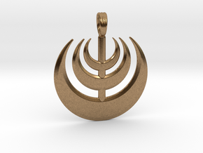 MOON WAVE in Natural Brass