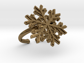 Snowflake Ring 1 d=16.5mm Adjustable h21d165a in Polished Bronze