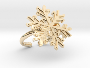 Snowflake Ring 1 d=16.5mm Adjustable h21d165a in 14k Gold Plated Brass