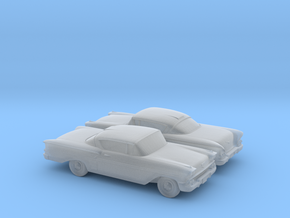 1/120 2X 1958 Chevrolet Impala Coupe in Smooth Fine Detail Plastic