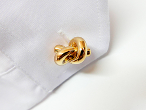 Love knots cufflinks in Polished Brass
