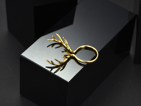 Antler Ring No.1 in 14k Gold Plated Brass