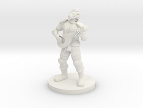 Dragonborn Male Bard in White Natural Versatile Plastic