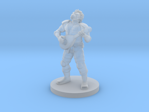 Dragonborn Male Bard in Smooth Fine Detail Plastic