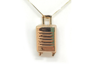 Customizable Trolley pendant-Ciondolo trolley pers in 14k Rose Gold Plated