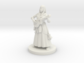 Half Elf Female  Bard in White Natural Versatile Plastic