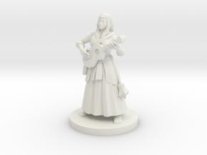 Half Elf Female  Bard in White Natural Versatile Plastic