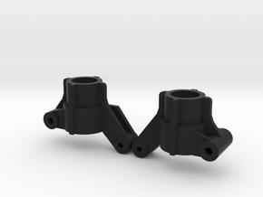 Top Force Rear Knuckles 2 degrees toe-in (TA02) in Black Natural Versatile Plastic
