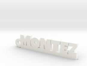 MONTEZ_keychain_Lucky in Rhodium Plated Brass
