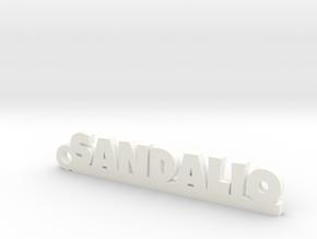 SANDALIO_keychain_Lucky in White Processed Versatile Plastic
