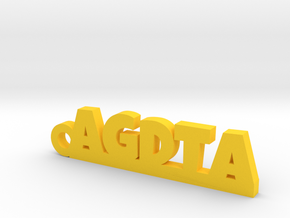 AGDTA_keychain_Lucky in Yellow Processed Versatile Plastic
