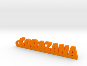 CORAZANA_keychain_Lucky in Orange Processed Versatile Plastic