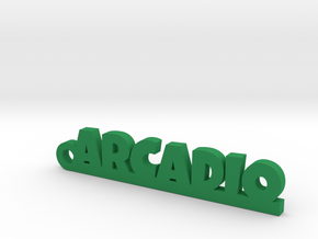 ARCADIO_keychain_Lucky in Green Processed Versatile Plastic