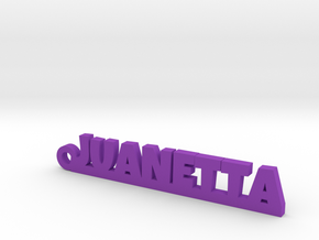 JUANETTA_keychain_Lucky in Purple Processed Versatile Plastic