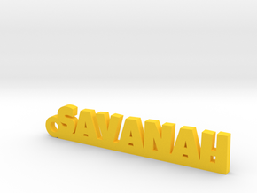 SAVANAH_keychain_Lucky in Yellow Processed Versatile Plastic
